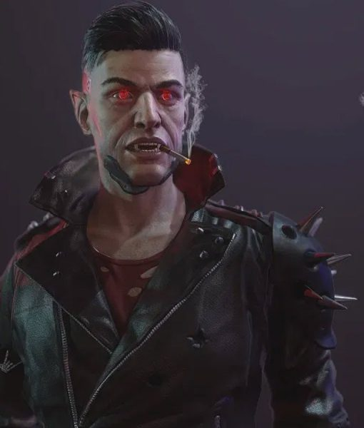 Cyberpunk 2077 Black Leather Dracula Jacket