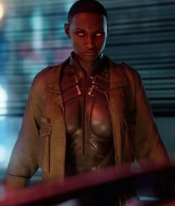 Cyberpunk 2077 Brown Leather T-Bug Jacket