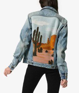 Cobie Smulders Stumptown Desert Landscape Denim Jacket