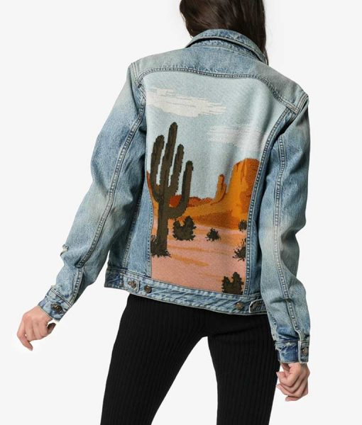 Dex Parios Stumptown Desert Landscape Denim Jacket