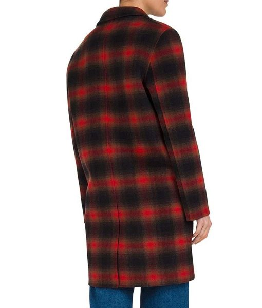 Stumptown Wool-Blend Cobie Smulders Plaid Coat