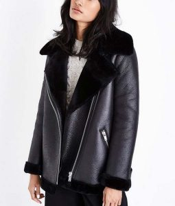 Dodge Lock & Key Echo Shearling Leather Jacket