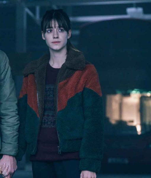 Daisy Edgar-Jones Emily Gresham War of the Worlds Sherpa Jacket