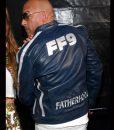 FF9 Vin Diesel Blue Leather Jacket