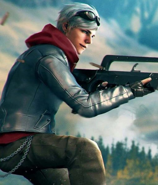 Garena Free Fire Silver Leather Maxim Jacket