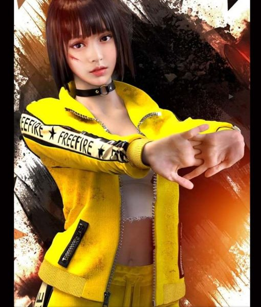 Garena Free Fire Yellow Fleece Kelly Jacket
