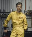 cafe racer yellow leather jacket