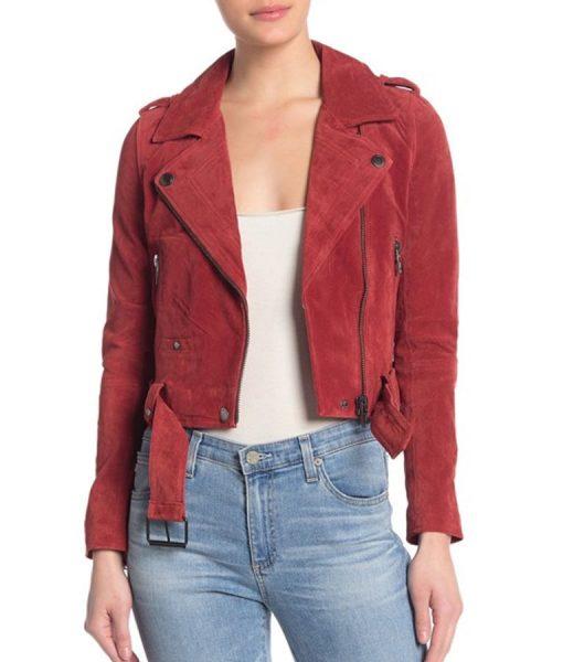 God Friended Me S02 Red Cara Bloom Motorcycle Jacket