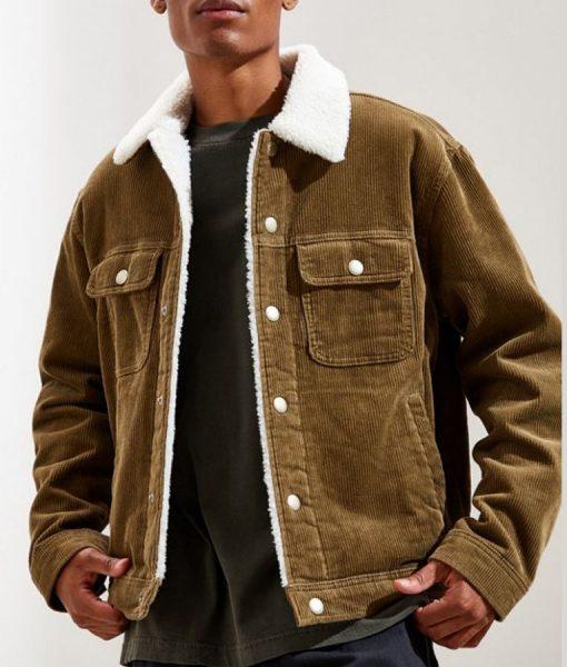 God Friended Me Corduroy Sherpa Jacket