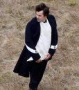 Harry styles black coat
