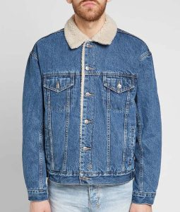 Stumptown Jake Johnson Denim Jacket Sherpa Collar