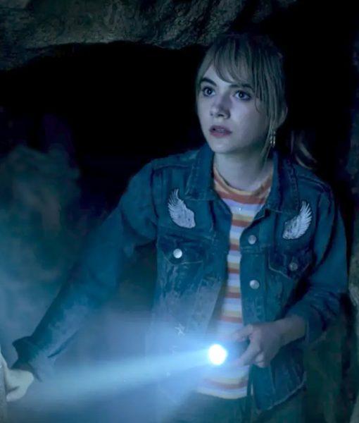 Kinsey Locke & key Angel Wing Denim Jacket