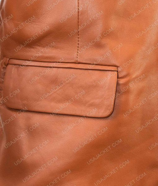 GenuineLambskin Leather Blazer Overcoat Jacket For Men's