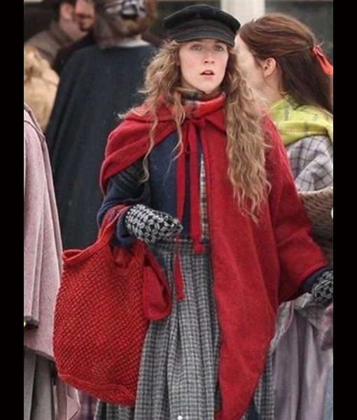 Saoirse Ronan Little Women Red Cloak