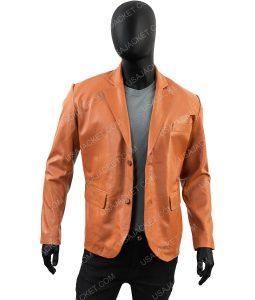 Lambskin Leather Blazer Overcoat Jacket