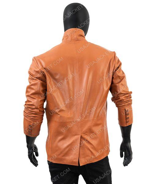 Mens Lambskin Leather Overcoat