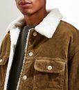 Rakesh God Friended Me Corduroy Jacket Sherpa Collar