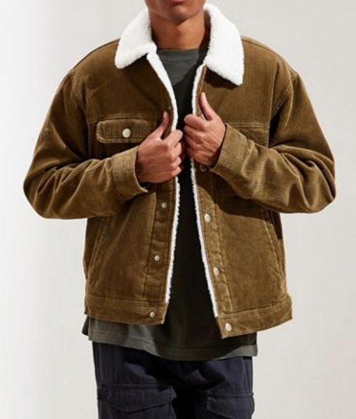 Rakesh God Friended Me Corduroy Sherpa Jacket