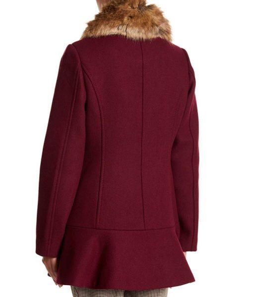 Riverdale Season04 Veronica Lodge Faux Fur Collar Coat