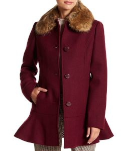 Riverdale S04 Veronica Lodge Maroon Coat