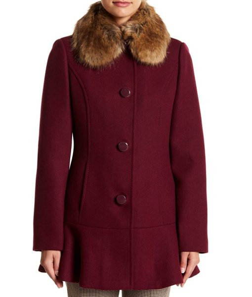Riverdale Season04 Camila Mendes Coat Faux Fur Collar