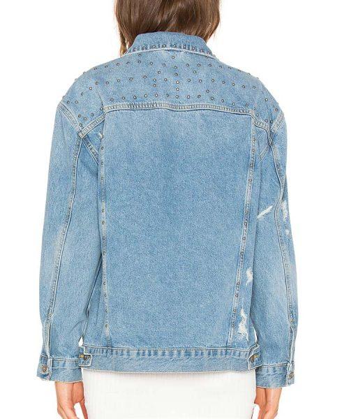 All American Samantha Logan Studded Denim Jacket
