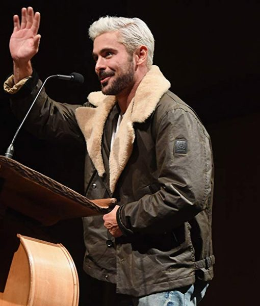 Shockingly Evil and Vile Event Zac Efron Shearling Jacket