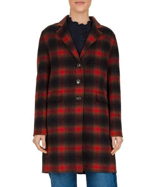 Stumptown Cobie Smulders Red Plaid Coat