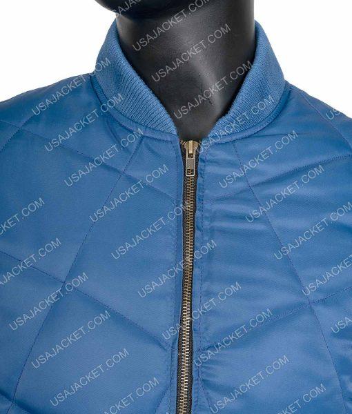 Super Bowl Blue Quilted Chris Evans Jacket