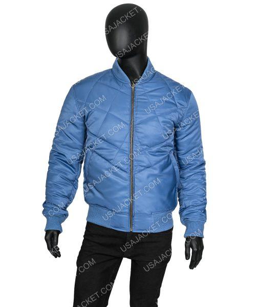 Super Bowl Chris Evans Blue Bomber Jacket