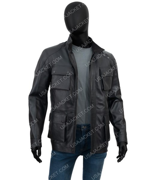 Takeshi Kovacs Altered Carbon S02 Black Leather Jacket