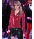 Taylor Swift Red Sequin Motorcycles Jacket