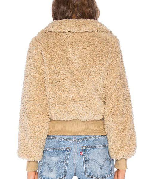 Kelley F Brown Furry Teddy Jacket
