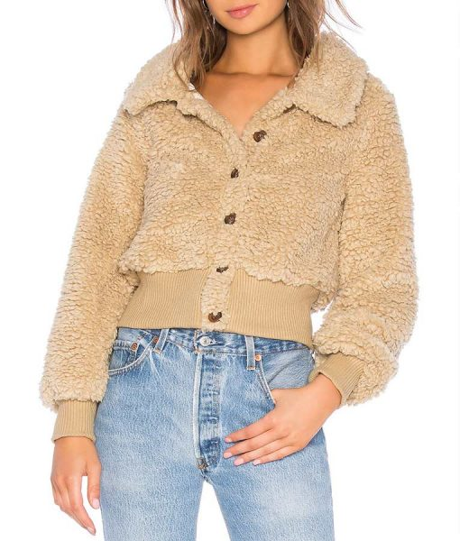 The Bachelor Kelley F Brown Furry Teddy Jacket
