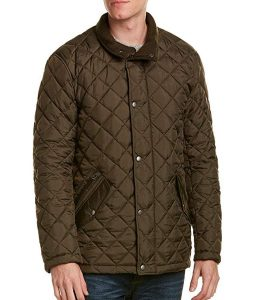 The Bachelor Peter Weber Quilted Barn Olive Green Jacket
