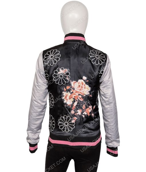 Virginia Gardner Karolina Dean Embroidered Bomber Jacket