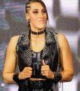 WWE Rhea Ripley Black Leather Vest