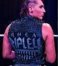 WWE Rhea Ripley Studded Black Leather Vest