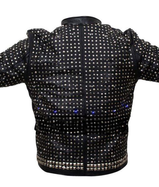 WWE WrestleMania Chris Jericho Y2j Sparkle Light Up Leather Jacket