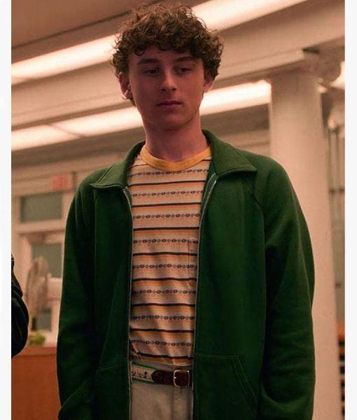 Wyatt Oleff green jacket