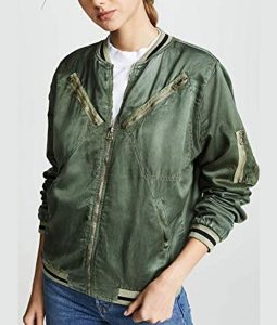You Season 02 Victoria Pedretti Satin Jump Jacket