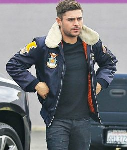 Zac Efron Bomber Jacket With Patches