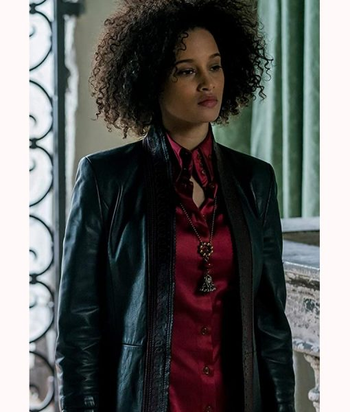 A Discovery of Witches Juliette Durand Black Leather Jacket