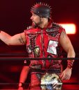 AEW Lance Archer Red Leather Vest With Spikes