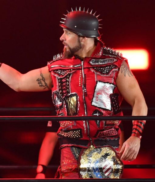 AEW Lance Archer Red Vest With Spikes