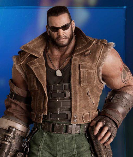 Brown Leather Final Fantasy VII Remake Vest