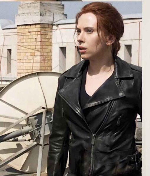 Black Widow 2021 Natasha Romanoff Biker Jacket