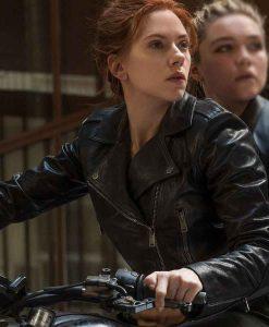 Black Widow 2021 Natasha Romanoff Leather Jacket