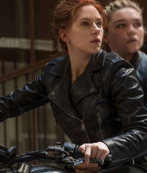 Black Widow 2021 Natasha Romanoff Motorcycle Jacket