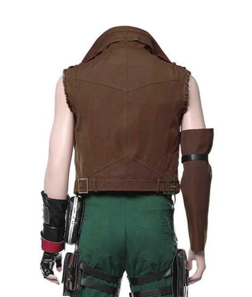 Barret Wallace Brown Leather Final Fantasy VII Remake Vest